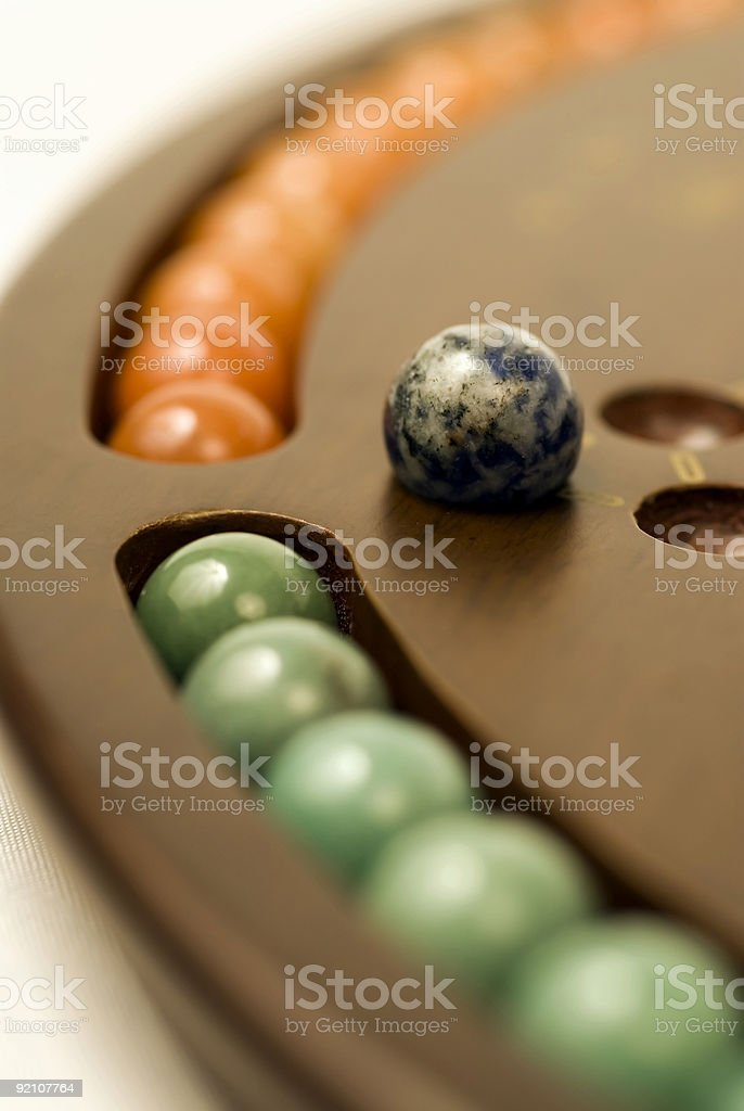 Chinese Checkers 3 royalty-free stock photo