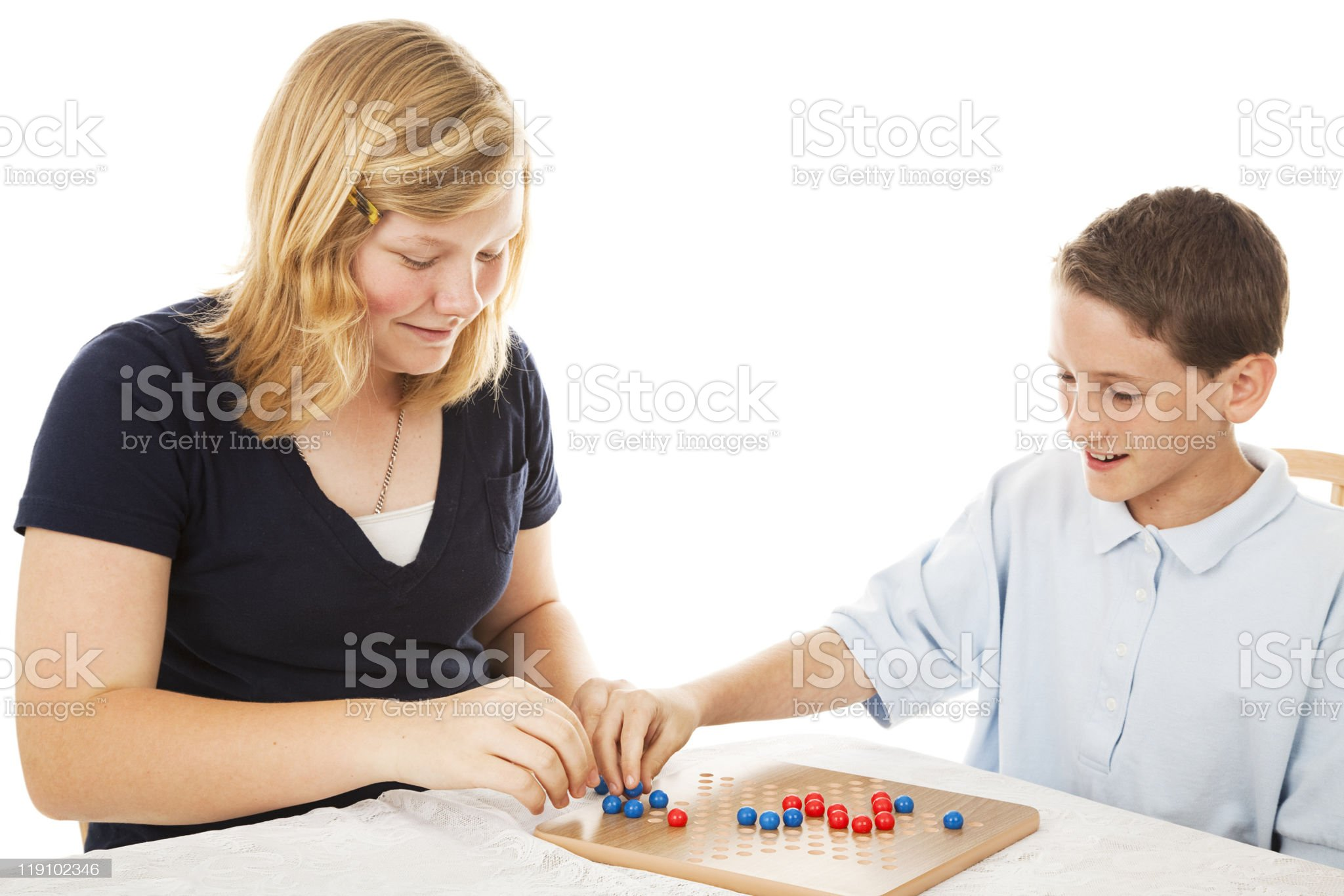 Chinese Checkers Game royalty-free stock photo