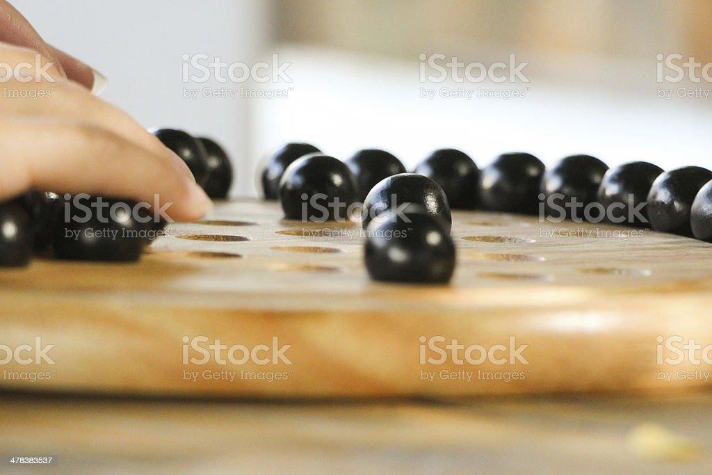 Chinese Checkers Game stock photo