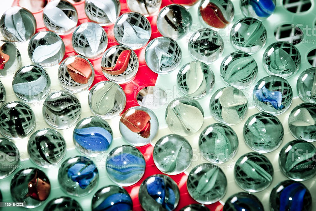 Chinese checkers glass ball royalty-free stock photo