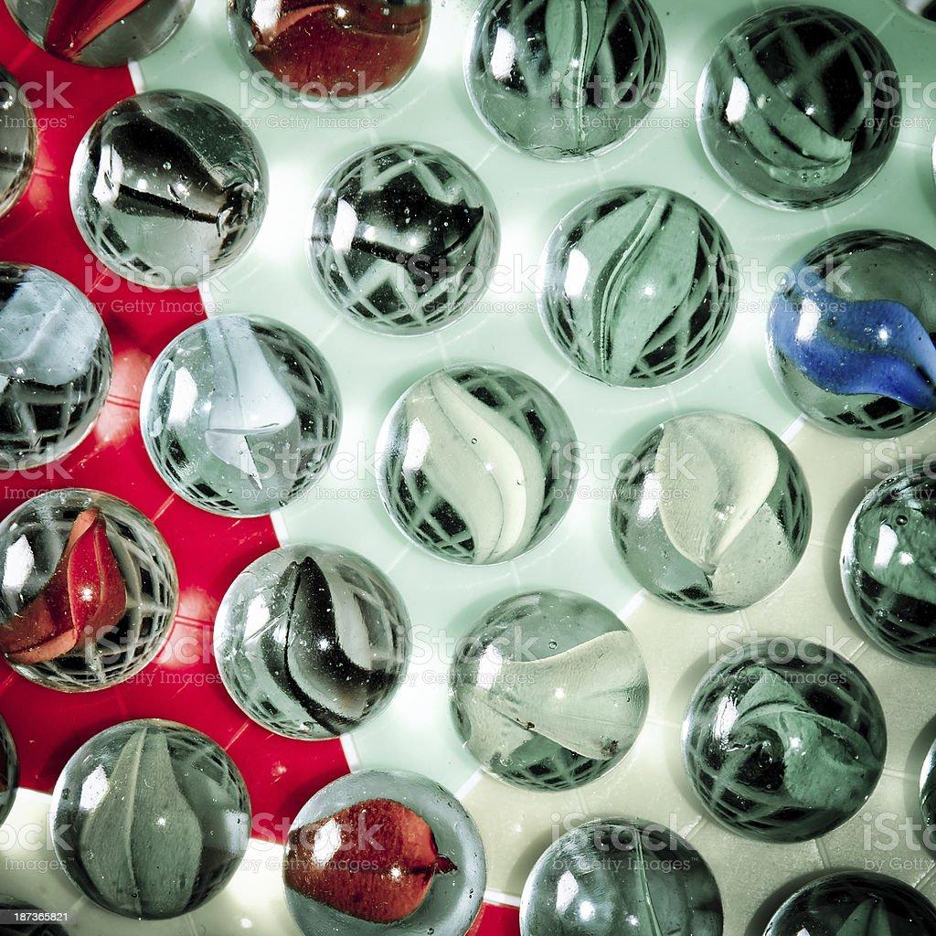 Chinese checkers glass ball stock photo