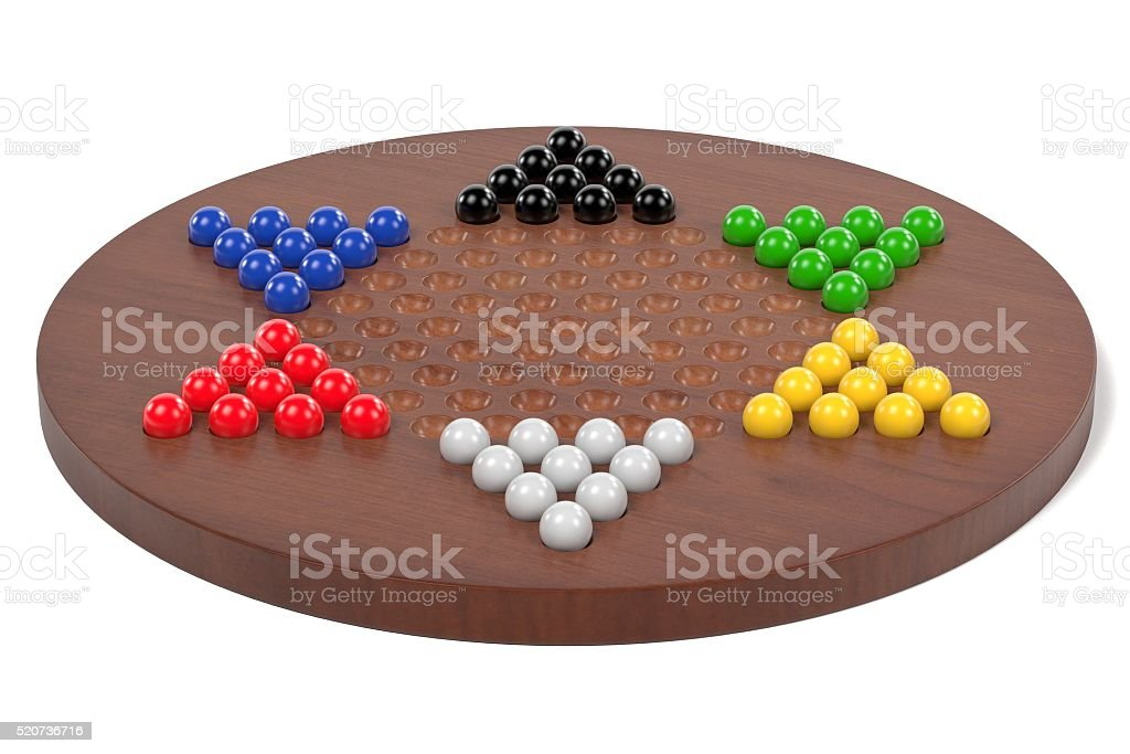 chinese checkers stock photo