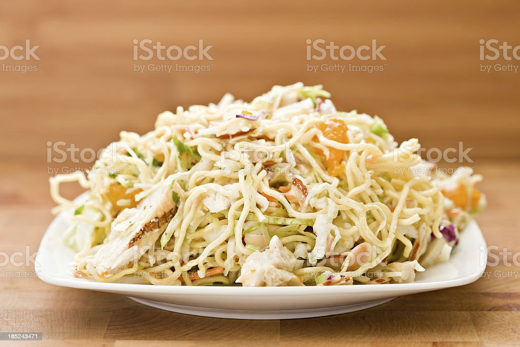Chinese Chicken Salad On A Plate royalty-free stock photo