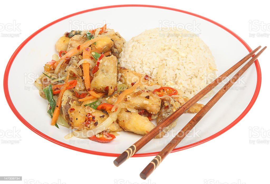 Chinese Chicken Takeaway Meal royalty-free stock photo