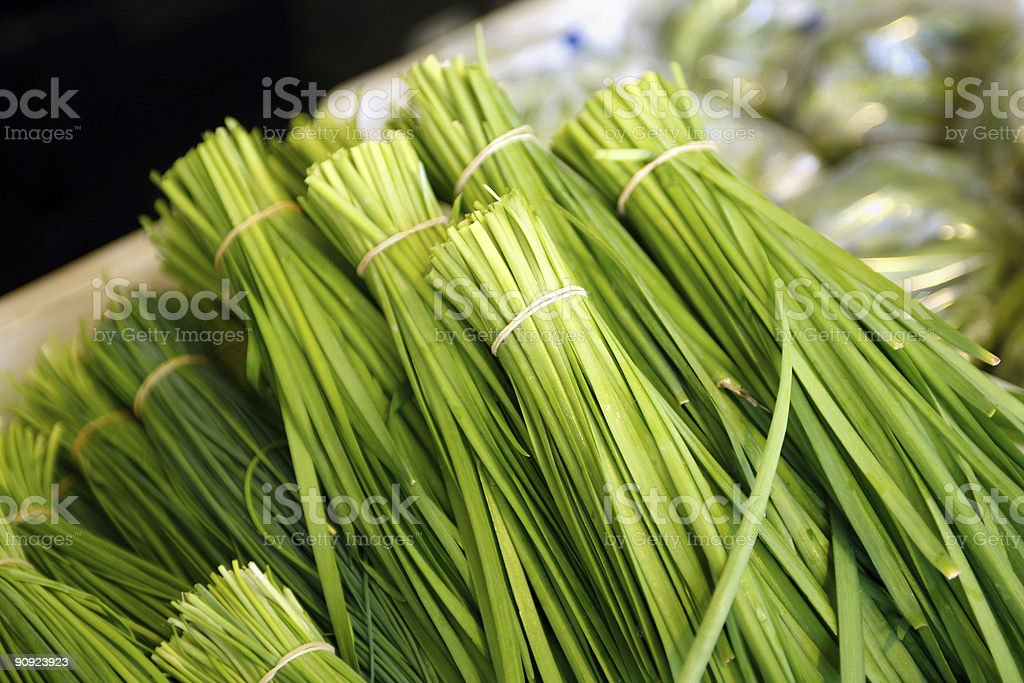 Chinese Chives royalty-free stock photo