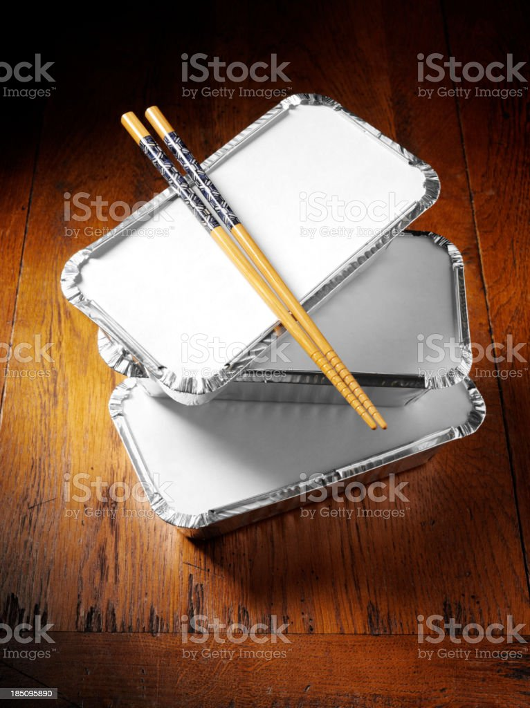 Chinese Chopsticks and Takeaway royalty-free stock photo