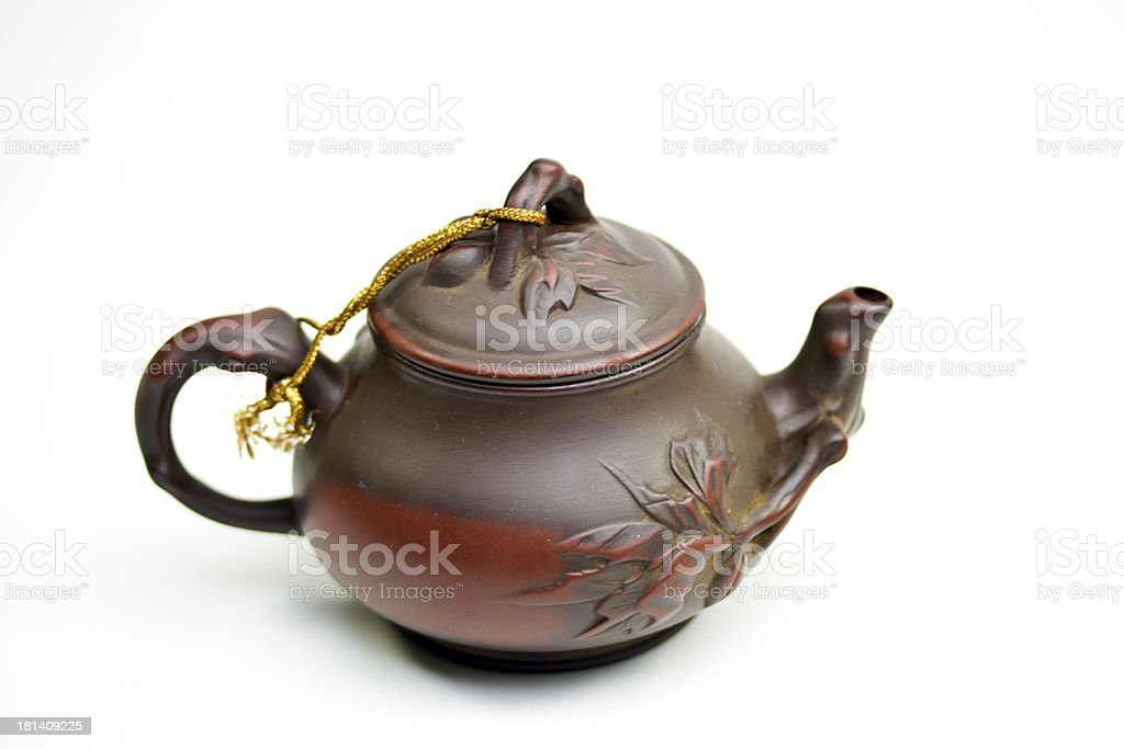 Chinese clay teapot royalty-free stock photo