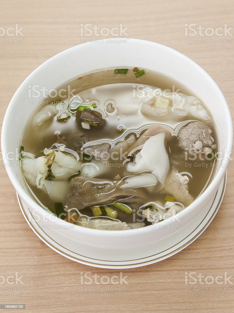 Chinese clear soup stock photo