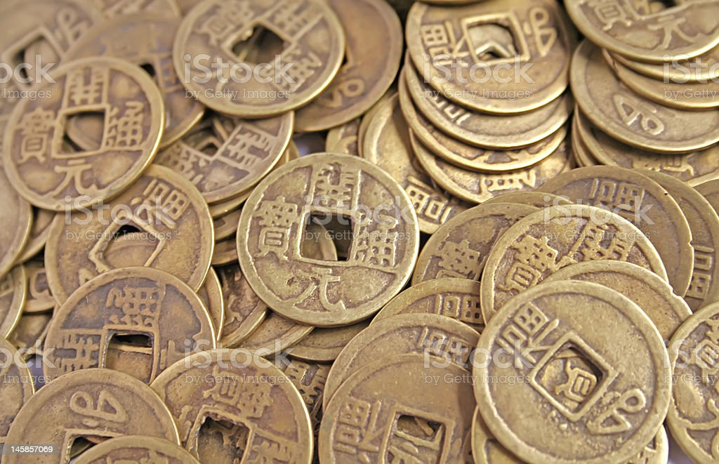 Chinese Coins - Ancient Imperial Replicas royalty-free stock photo