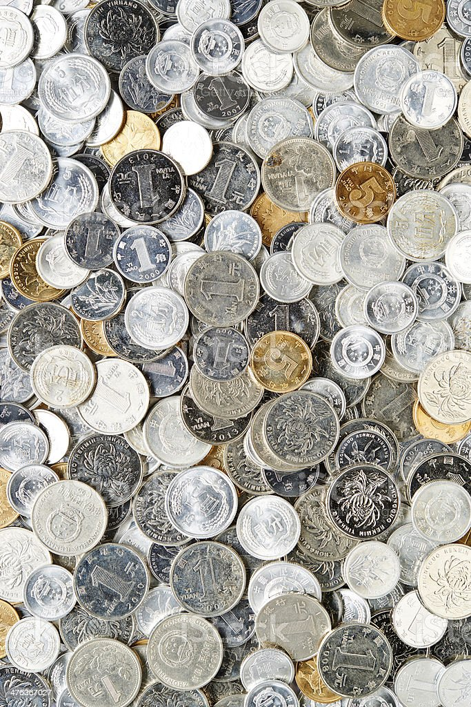 Chinese Coins royalty-free stock photo