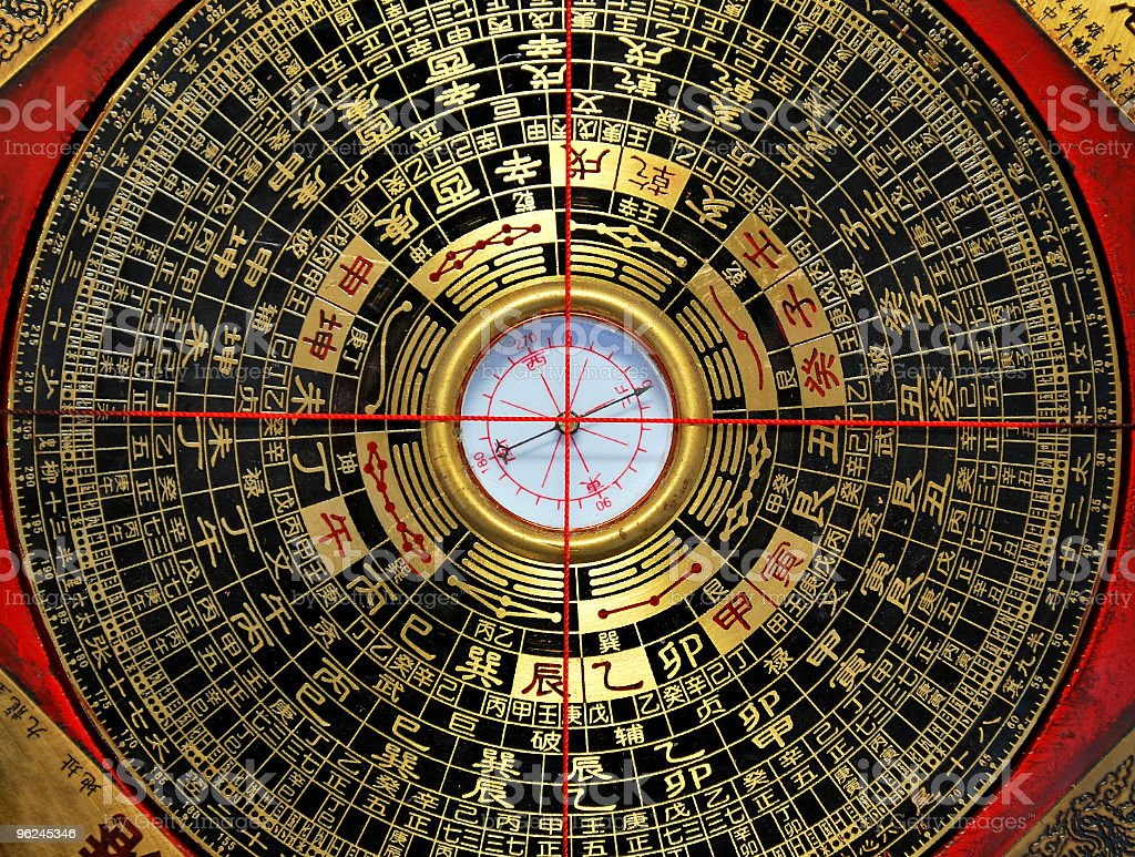 Chinese compass Feng Shui stock photo
