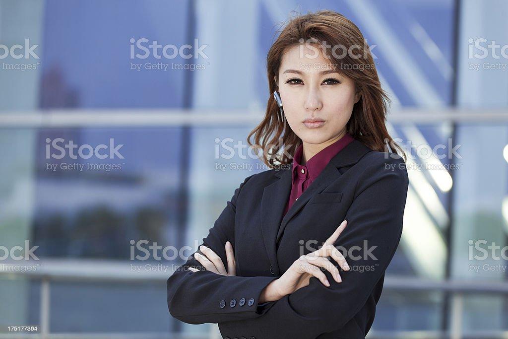 chinese confidence businesswomen royalty-free stock photo