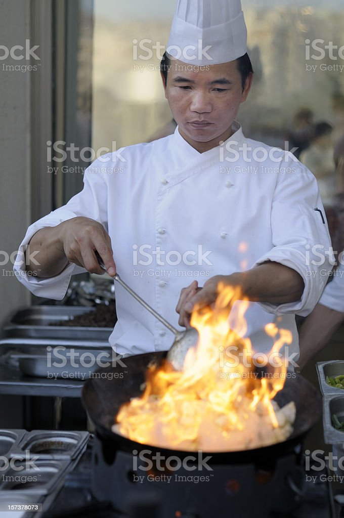 Chinese Cook royalty-free stock photo