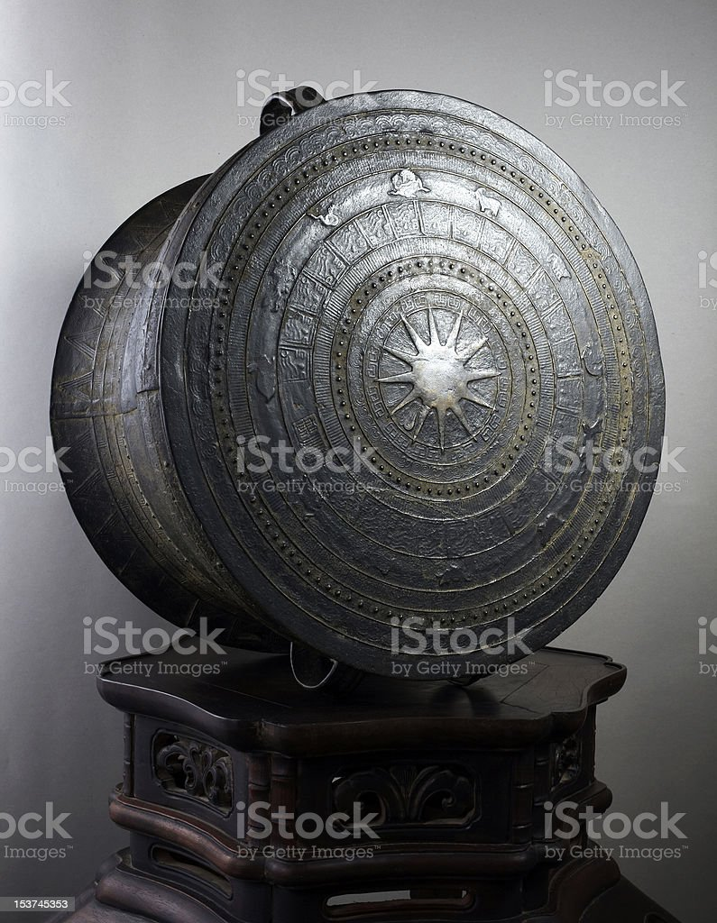 chinese Copper drum stock photo