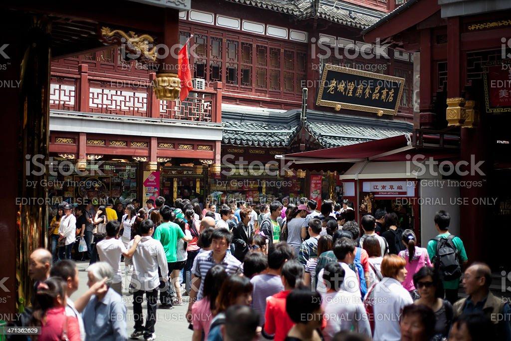 Chinese crowd, Shanghai, China royalty-free stock photo