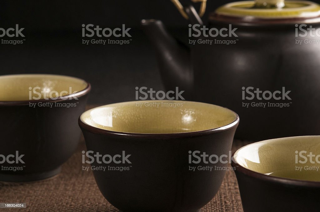Chinese cup of tea on black background royalty-free stock photo