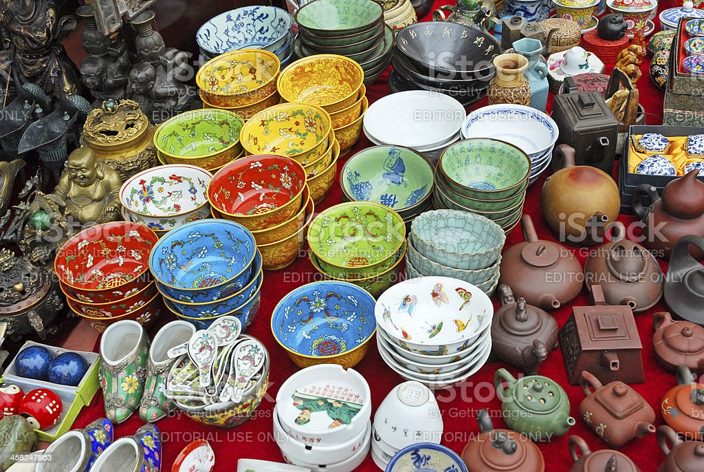 Chinese cups stock photo