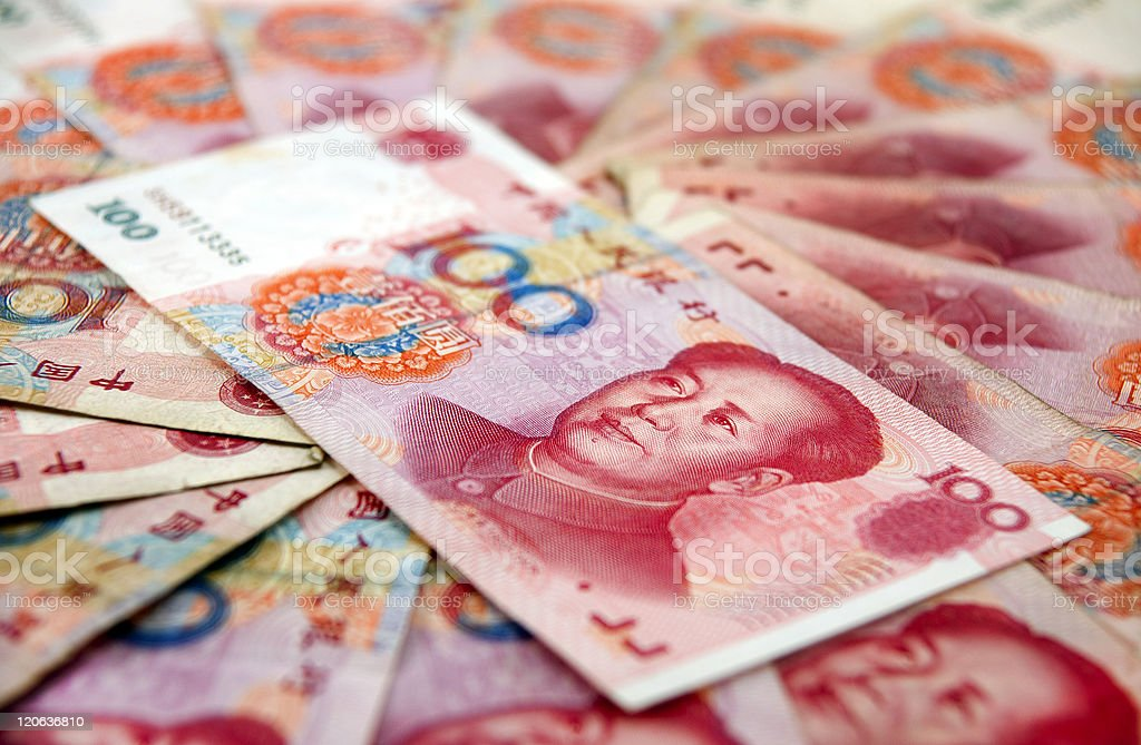 Chinese currency stock photo