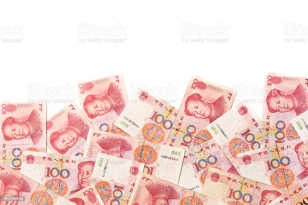 Chinese Currency the Chinese Yuan Border Frame stock photo