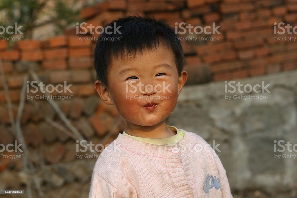 Chinese cute girl royalty-free stock photo