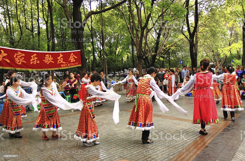 Chinese dance performance royalty-free stock photo