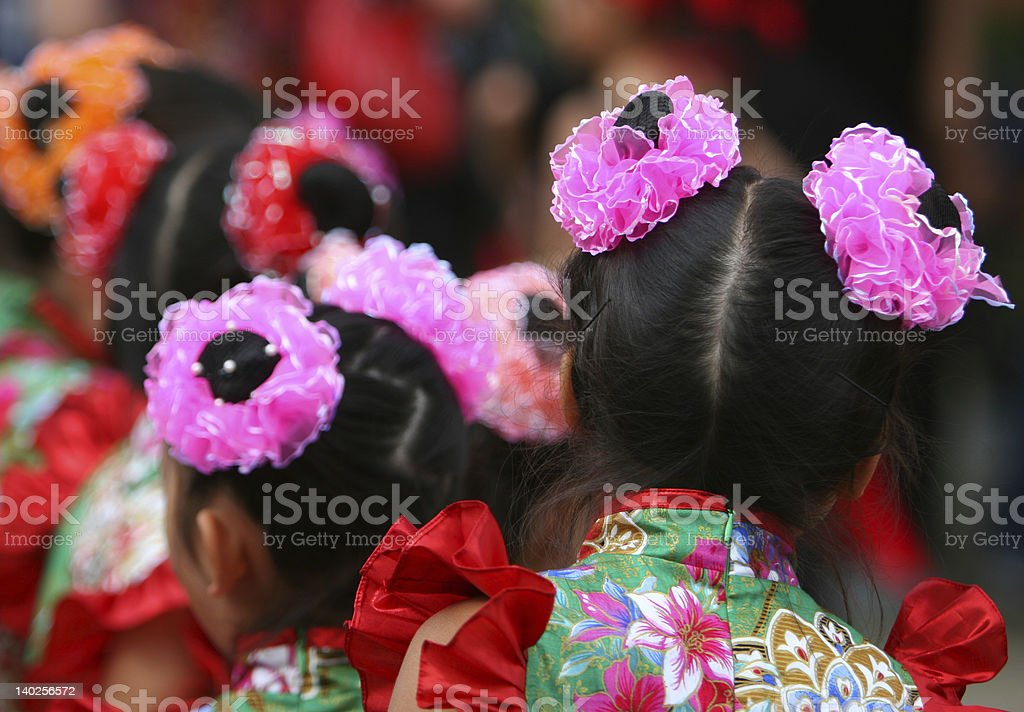 Chinese Dancers royalty-free stock photo