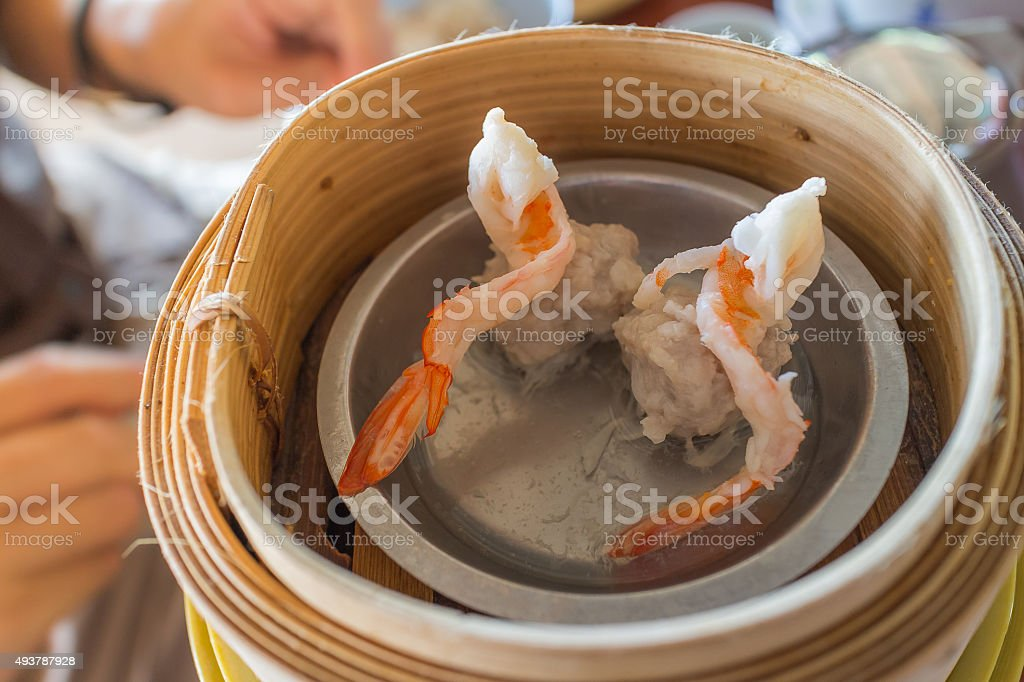 Chinese Dim Sum Shumai (Steamed Chinese Dumpling) stock photo