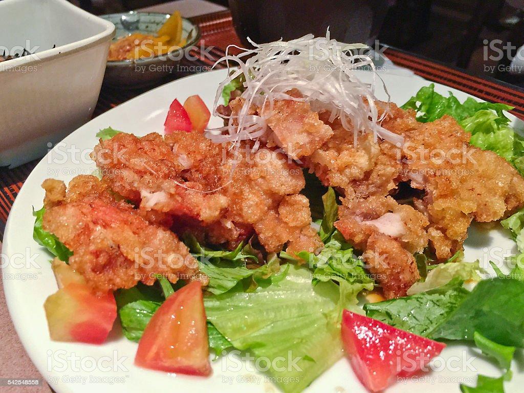 Chinese dish 'You Lin Ji' in Japan stock photo