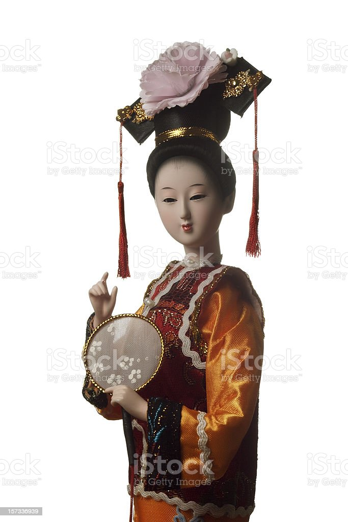 Chinese doll stock photo