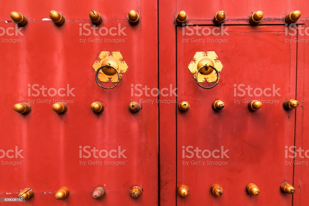 Chinese door handle stock photo