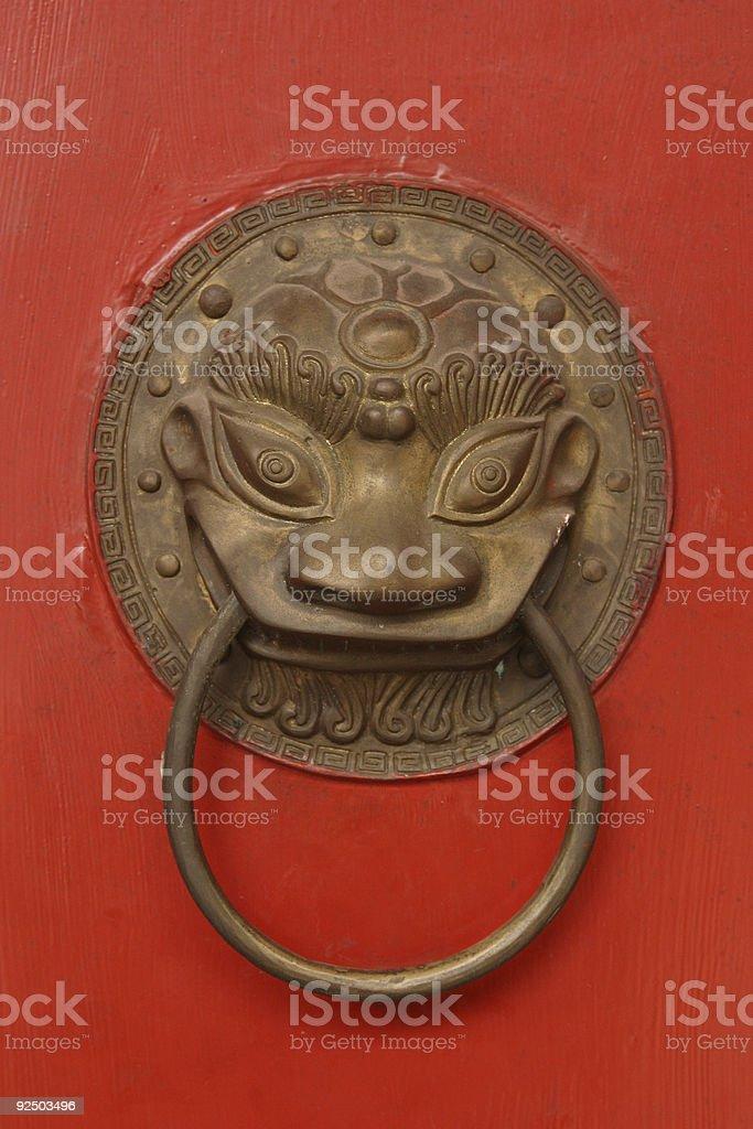 Chinese Door Handle royalty-free stock photo