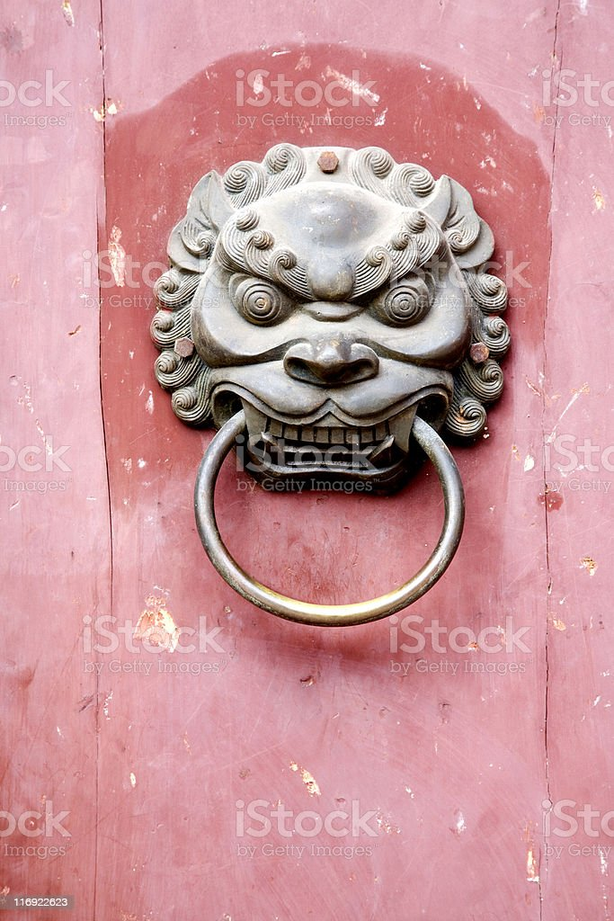 Chinese door knob stock photo