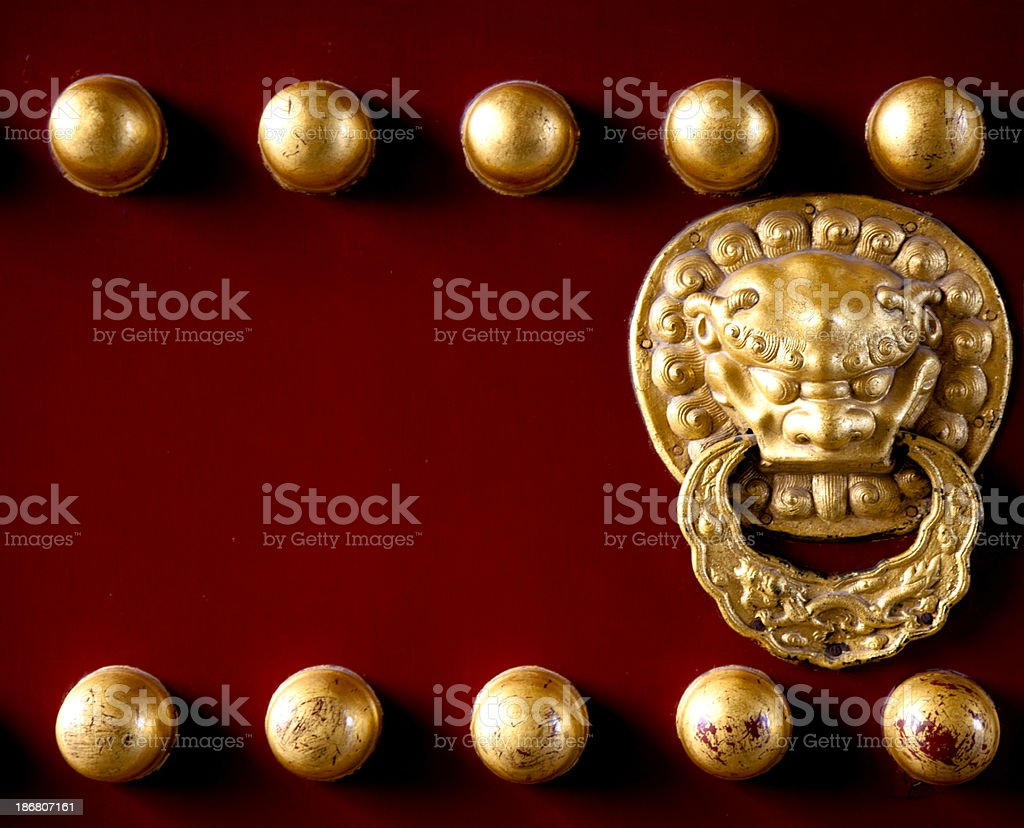 Chinese Door Knocker royalty-free stock photo
