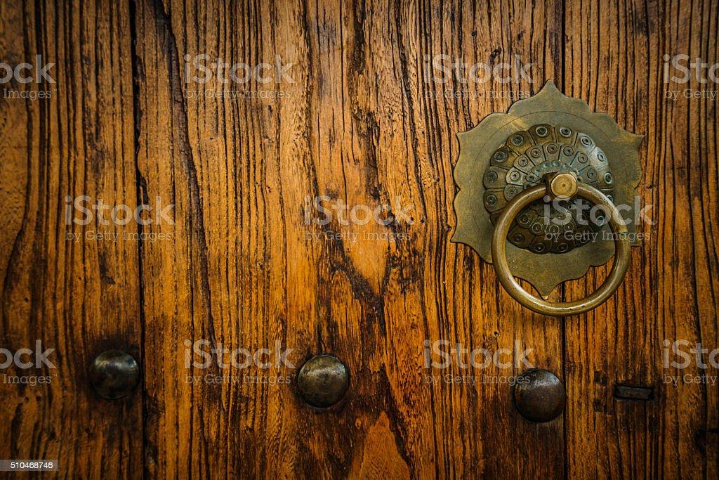 Chinese Door Knocker stock photo