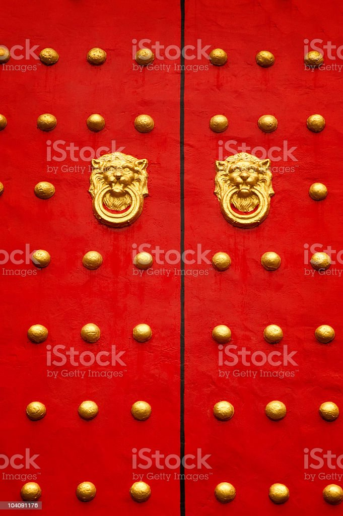 Chinese door royalty-free stock photo