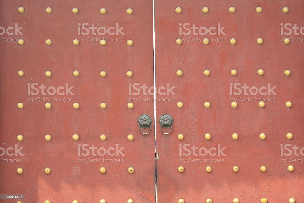 Chinese Door stock photo