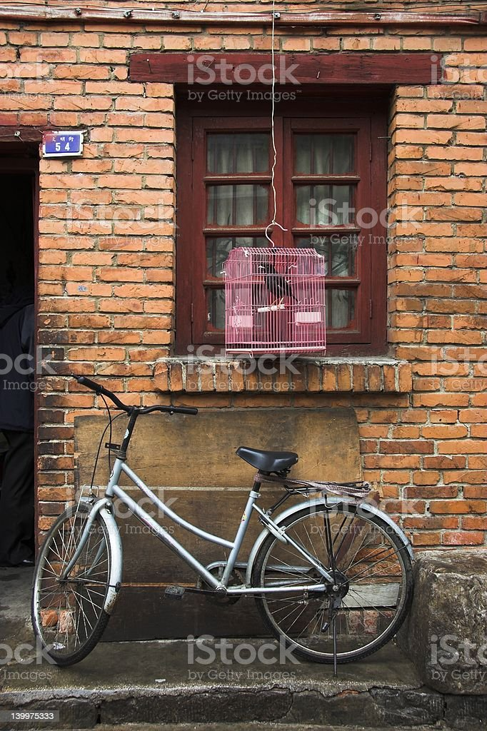 Chinese Doorstep royalty-free stock photo