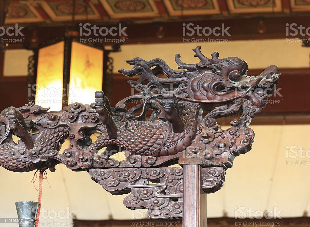 Chinese Dragon Carving royalty-free stock photo