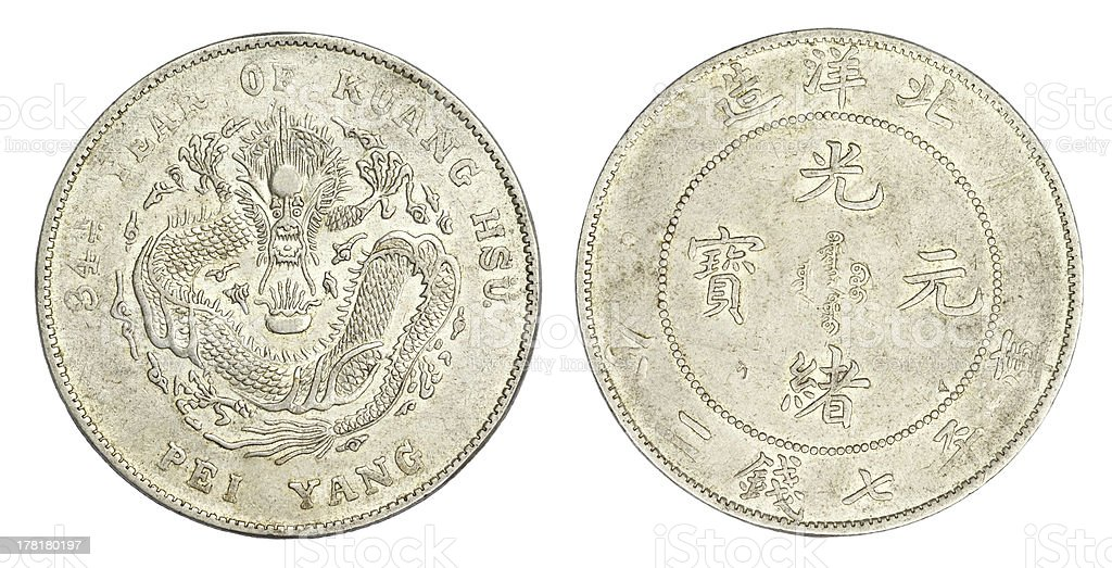 Chinese Dragon coin royalty-free stock photo