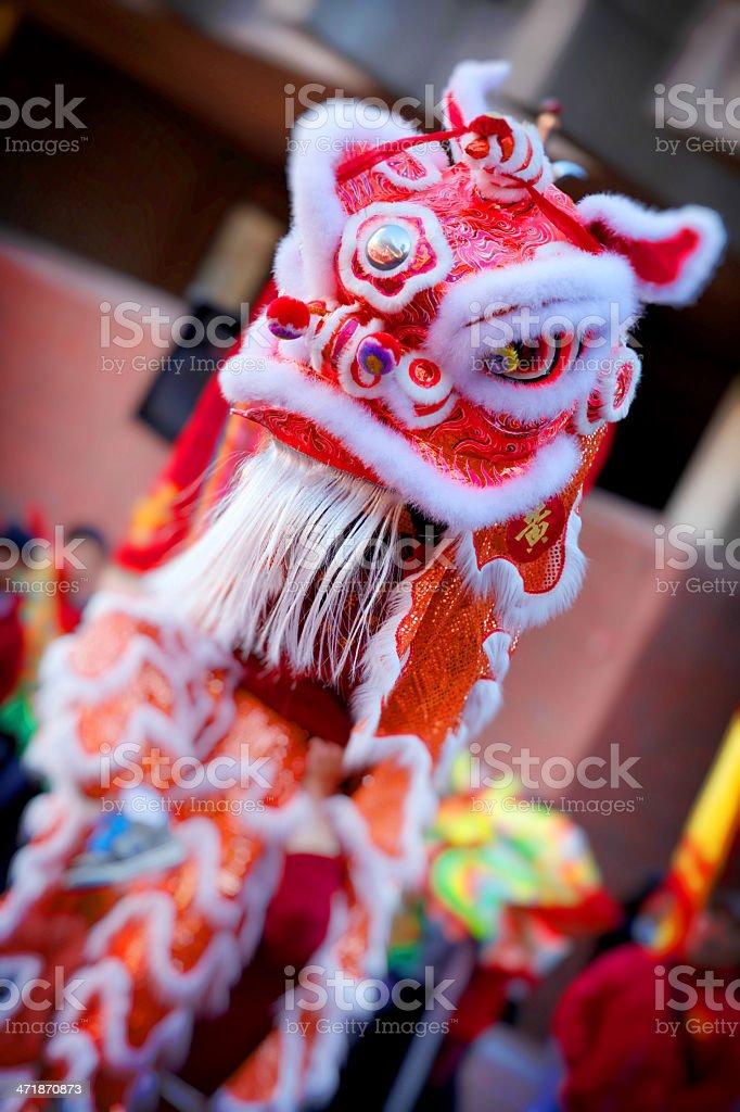 Chinese Dragon Dance royalty-free stock photo