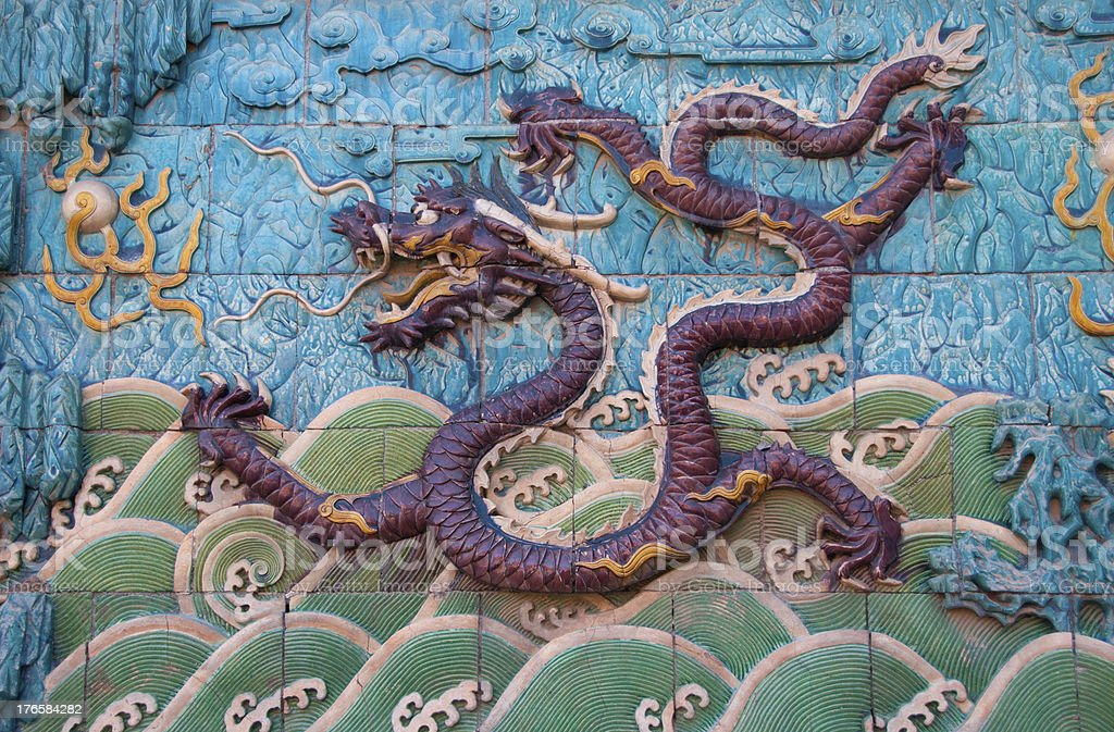 Chinese dragon image stock photo
