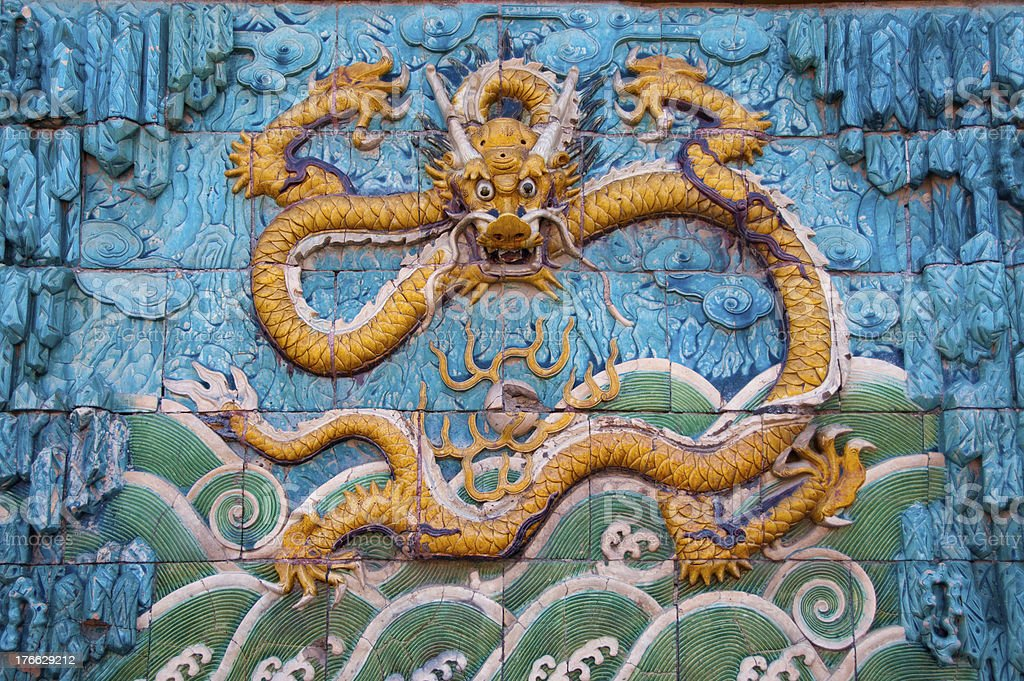 Chinese dragon image stock photo