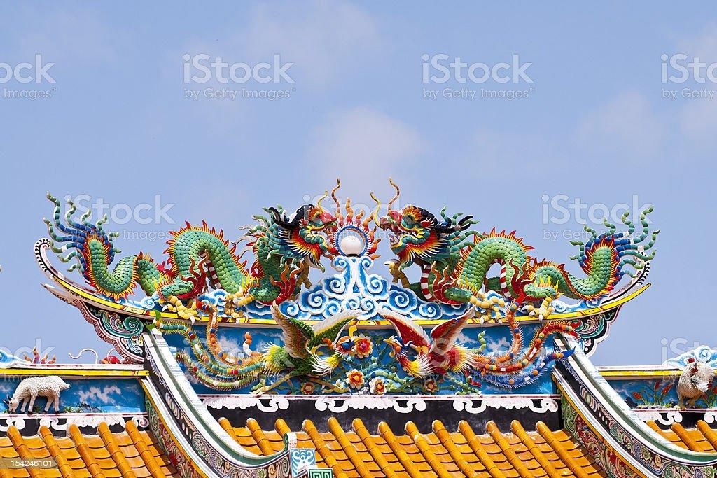 Smok chiński w Temple zbiór zdjęć royalty-free