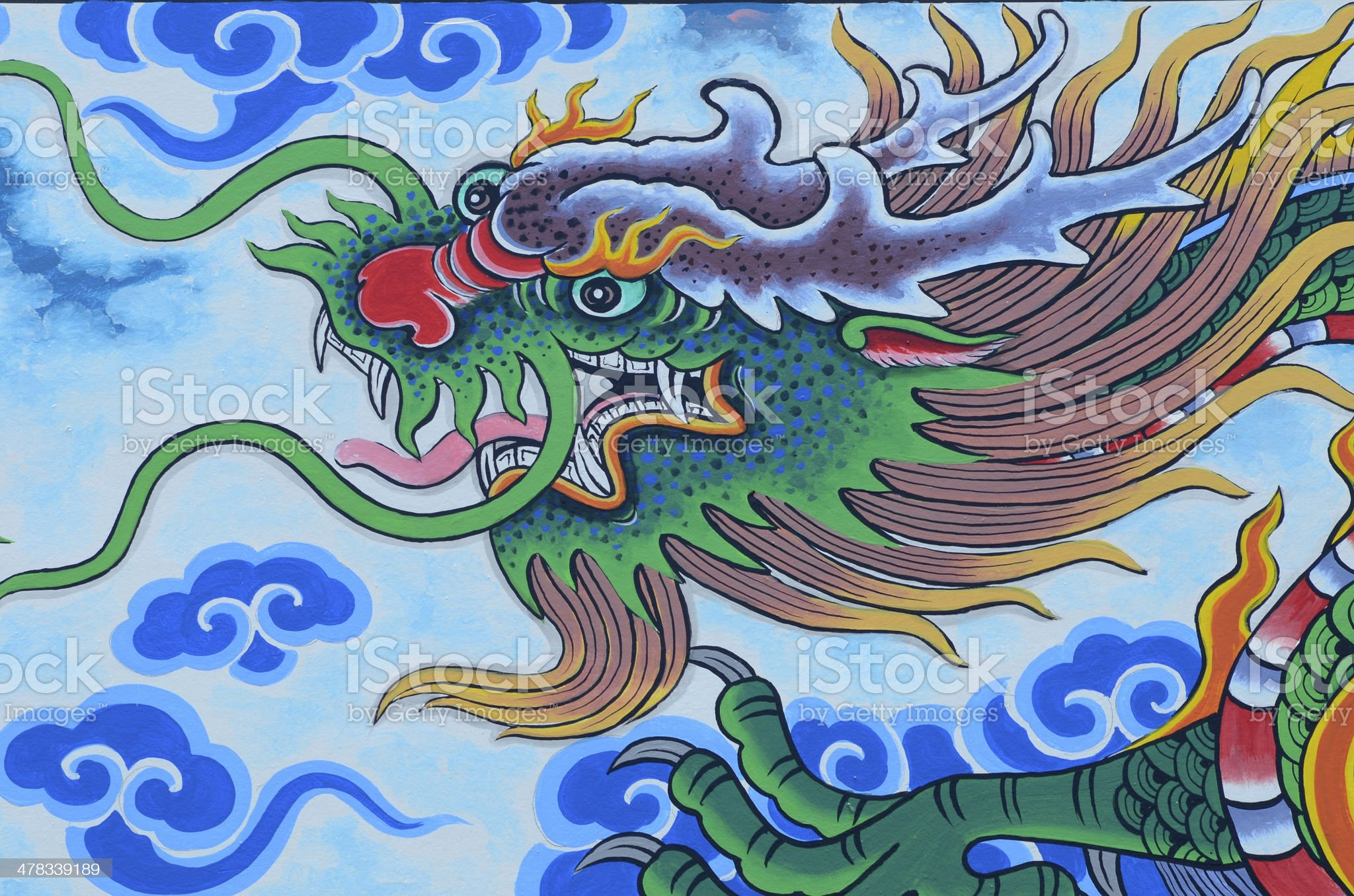 Chinese Dragon in Temple. royalty-free stock photo