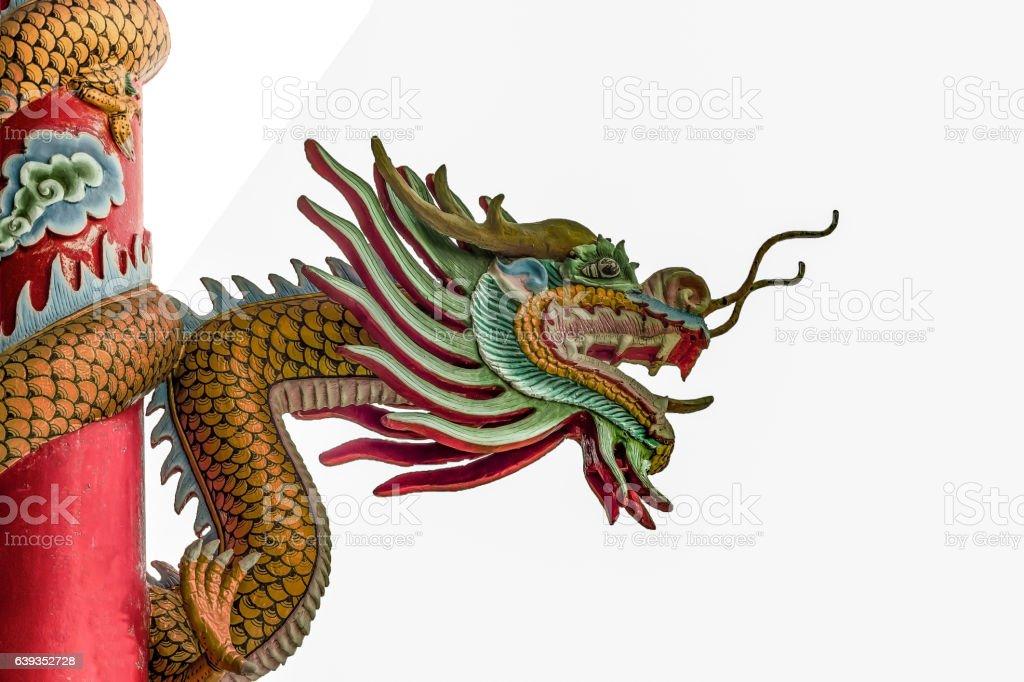 Chinese Dragon on White Background stock photo