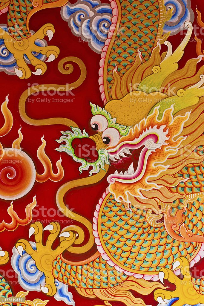 Chinese Dragon Painting royalty-free stock photo