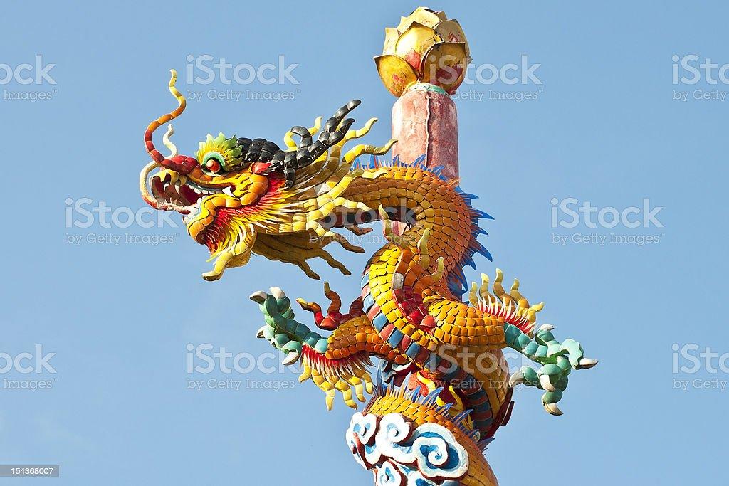 Smok chiński. zbiór zdjęć royalty-free