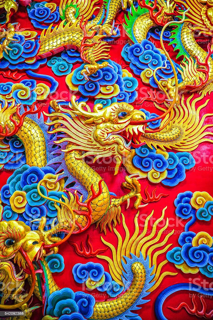 Chinese Dragon Sculpture stock photo