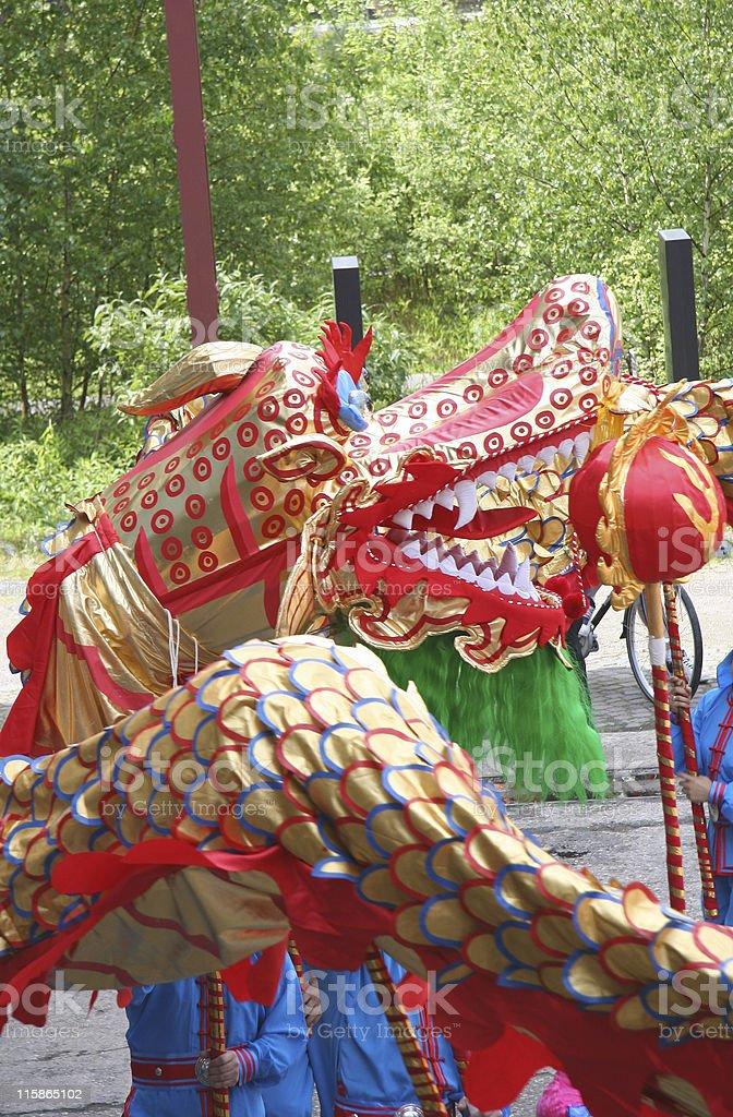 Chinese Dragon-Dance royalty-free stock photo