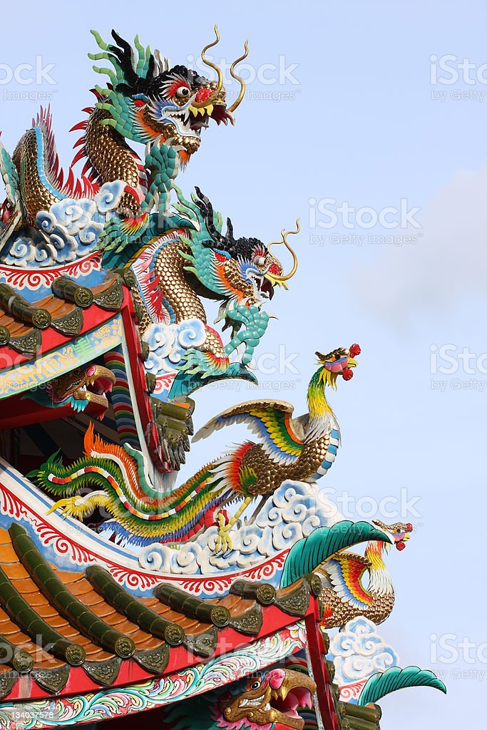 Chinese dragons royalty-free stock photo